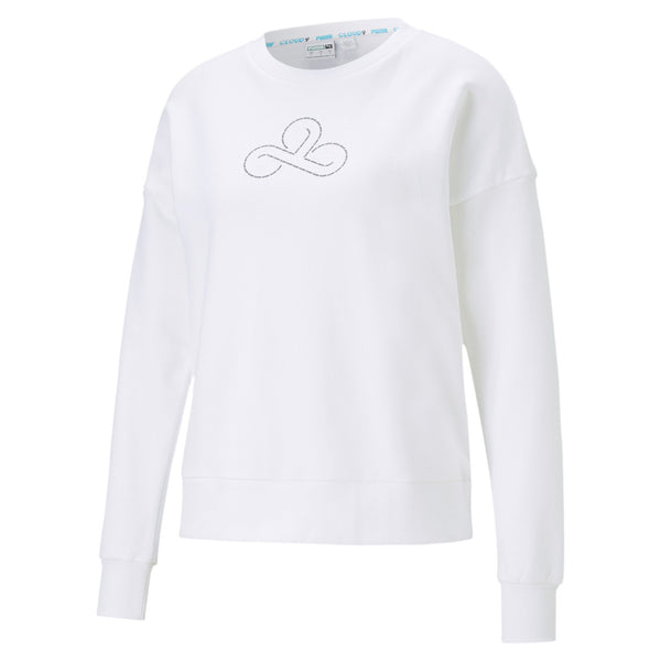 Puma x Cloud9 Disconnect Sweatshirt. Womens. White.