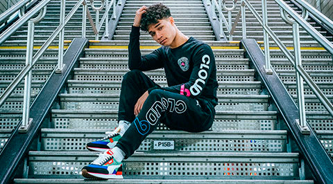 Puma x Cloud9 Orbit Long Sleeve T-Shirt. Black. Pink.