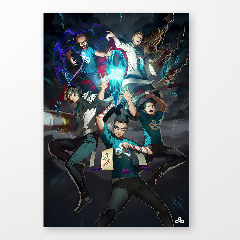Autographed League of Legends Poster: 2015 Worlds