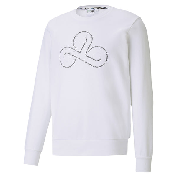Puma x Cloud9 Disconnect Sweatshirt. White.