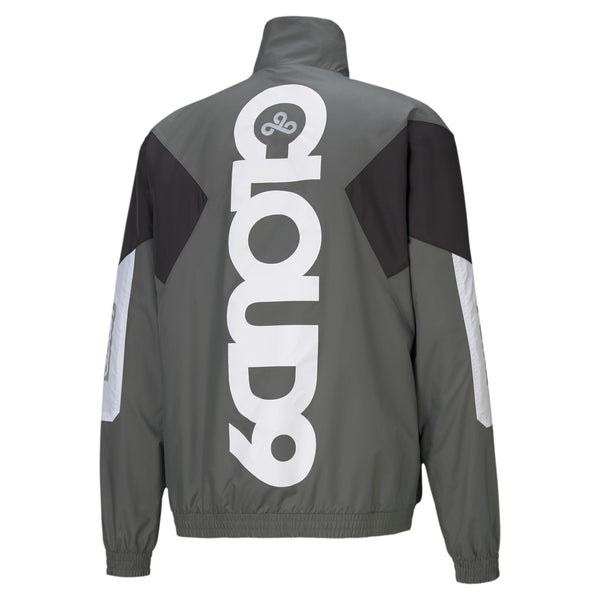 Puma x Cloud9 Corrupted Windbreaker. Grey.
