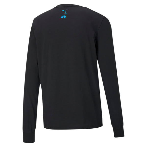 Puma x Cloud9 Cat Longsleeve Tee. Black.