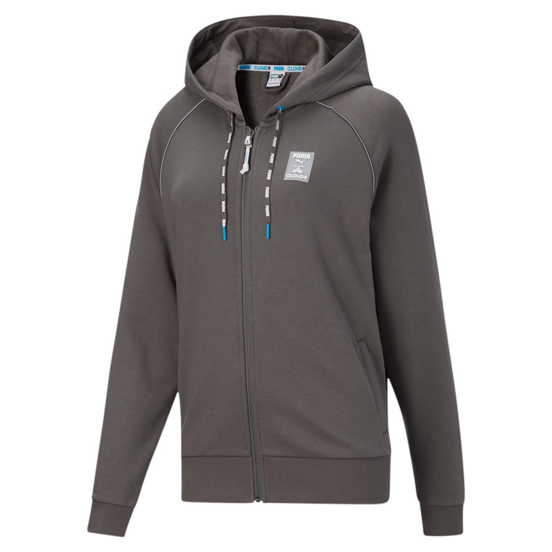 Puma x Cloud9 Drop In Zip Up Hoodie. Womens. Grey.