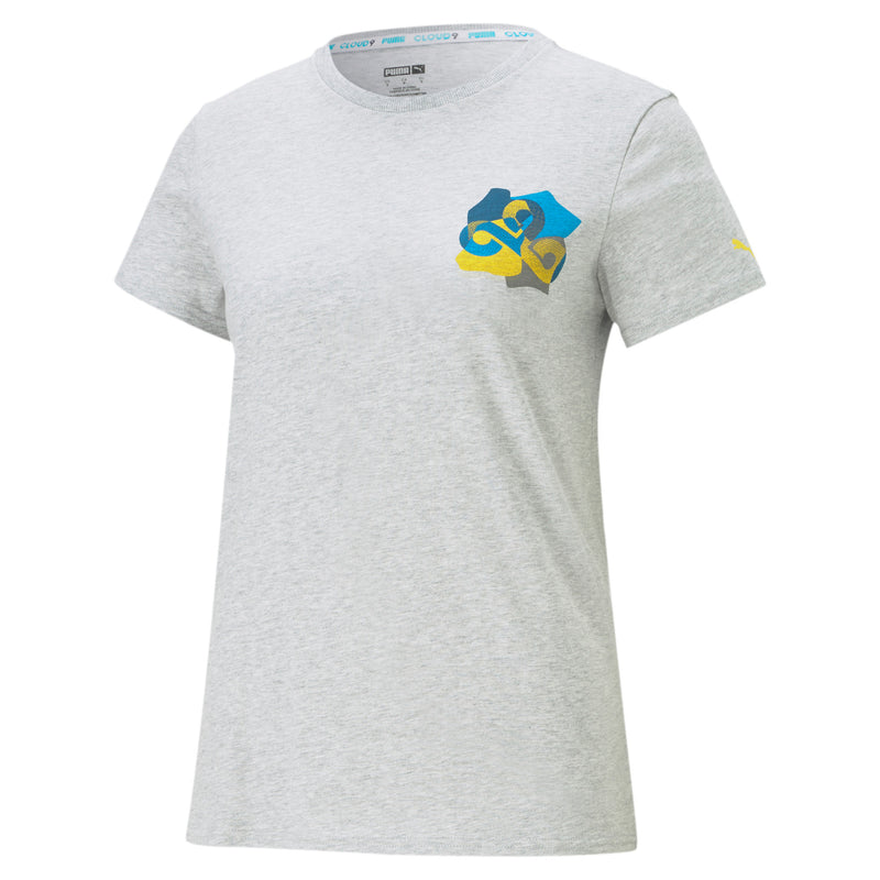 Puma x Cloud9 Jigsaw T-Shirt. Womens. Grey.