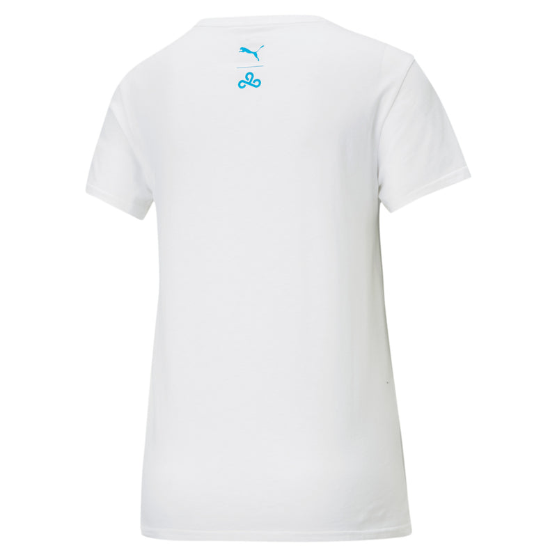 Puma x Cloud9 Disconnect T-Shirt. Womens. White.