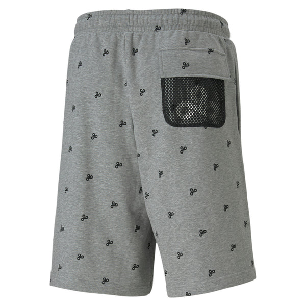PUMA x Cloud9 Zoned In Sweat Short. Grey.