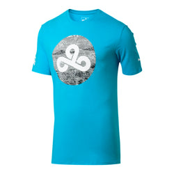 Puma x Cloud9 Wavy Clouds T-Shirt. Blue.