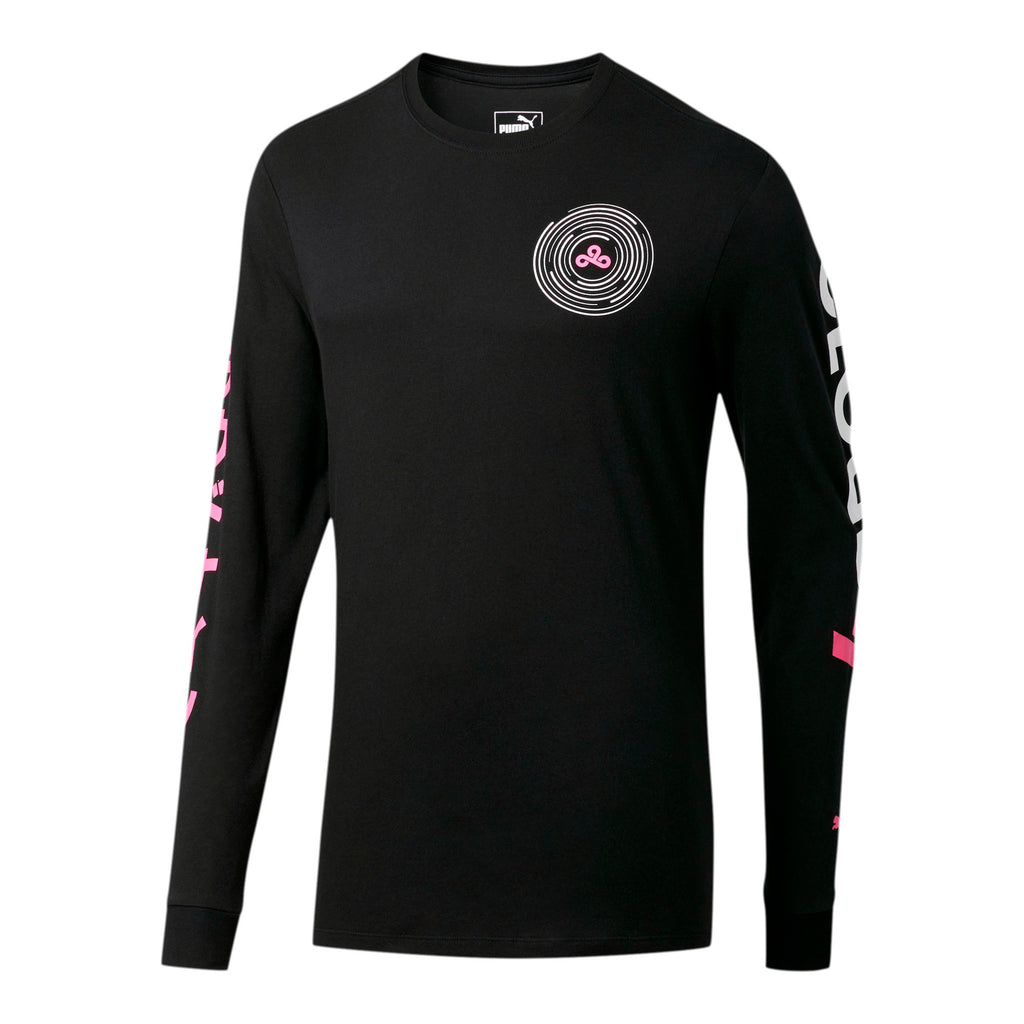 Puma X Cloud9 Orbit Long Sleeve T-Shirt. Black.