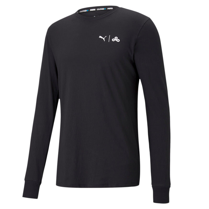 Puma x Cloud9 Level Up Long Sleeve Tee. Black.