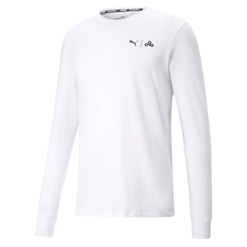 Puma x Cloud9 Level Up Long Sleeve Tee. White.