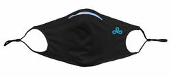Cloud9 Premium Facemask. Black.