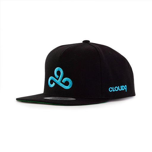 Cloud9 The Logo Snapback Hat. Black