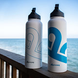 CLOUD9 40oz Stainless Steel Water Bottle. BLUE