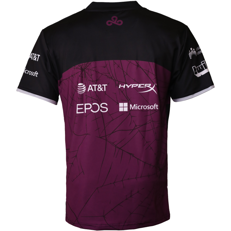 Cloud9 2020 Halloween Jersey. Black. Purple.