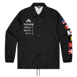 Cloud9 2019 Worlds Coach Jacket. Black.