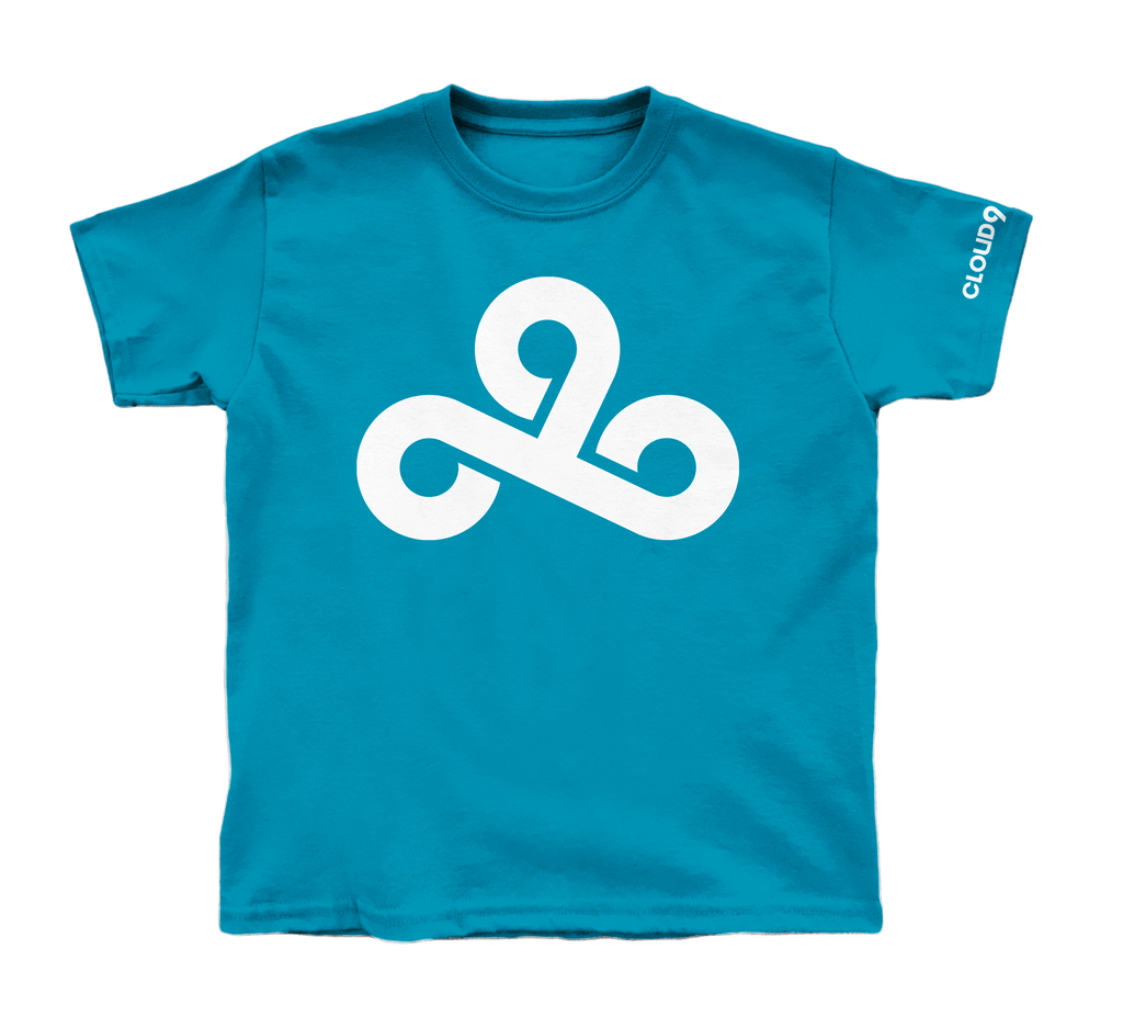 Cloud9 The Logo Youth T-Shirt. Blue