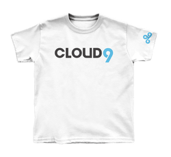 Cloud9 Wordmark Youth T-Shirt. White