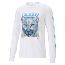 Puma x Cloud9 Cat Longsleeve Tee. White.
