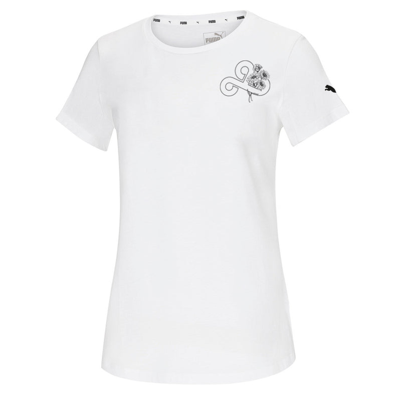 Puma x Cloud9 Floral T-Shirt. Womens. White.