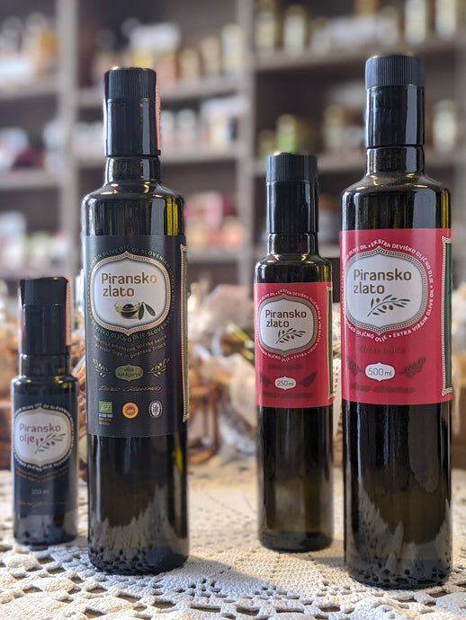 Extra virgin olive oil of Slovenian Istria DOP