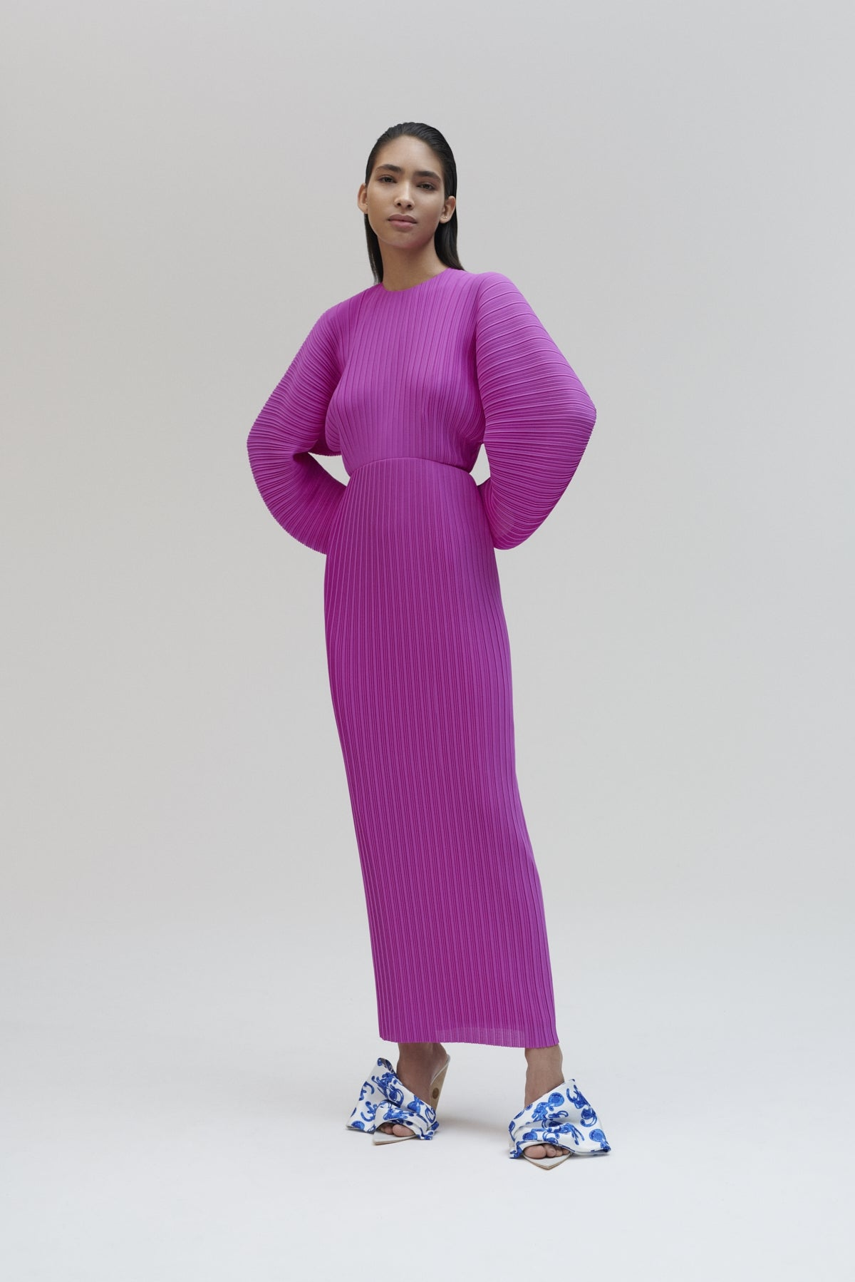 The Mirabelle Dress in Bright Purple