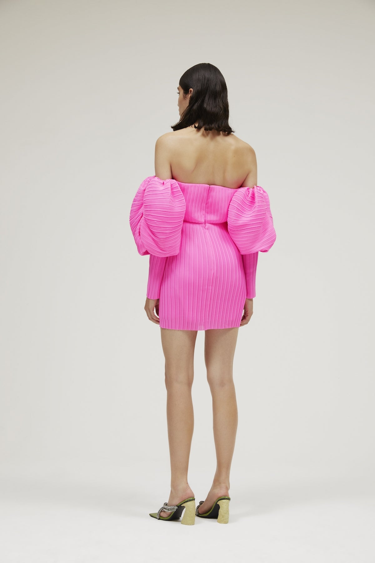 The Skye Dress in Acid Pink
