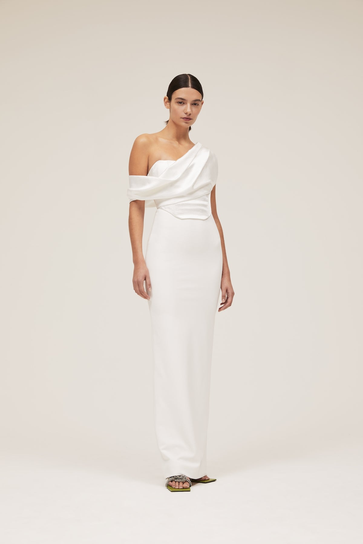 The Kara Dress in Winter White