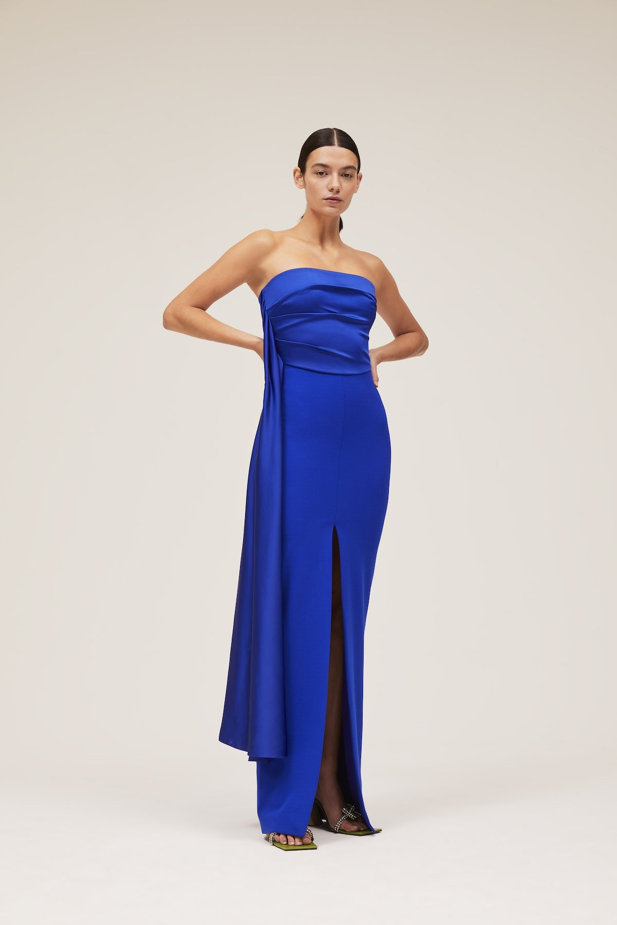 The Harlow Dress in Cobalt Blue