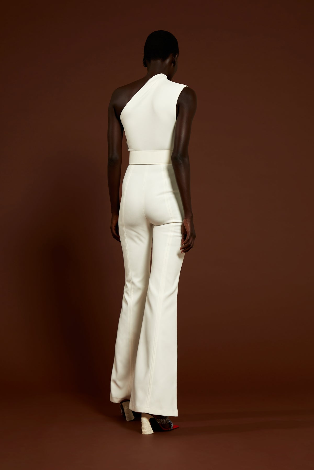The Cleo Jumpsuit in Winter White