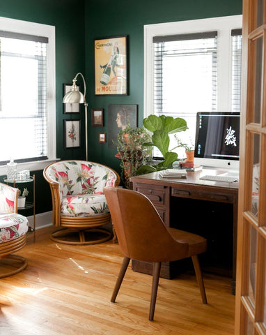 Nature inspired home office set-up