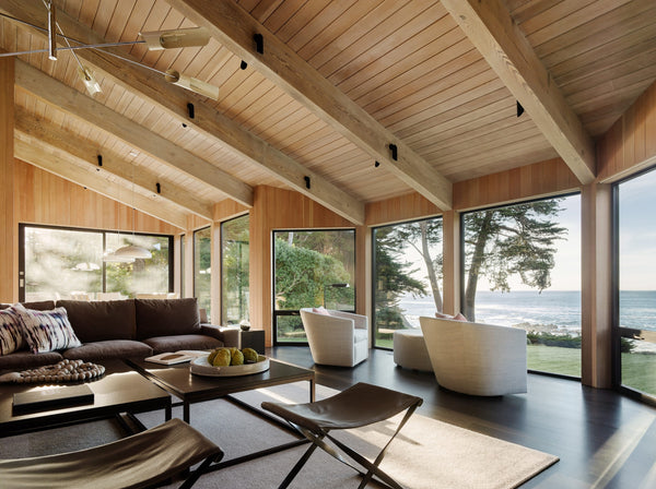 Home interior built with natural materials