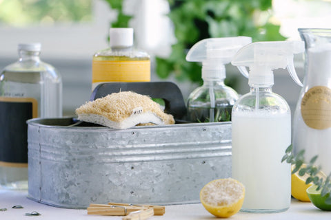 Natural cleaning supplies for a naturally healthy home