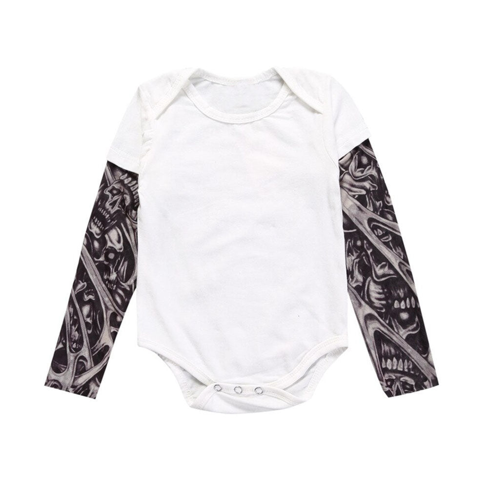 BnBies Adorable Tattoo Sleeve Baby Boy Romper