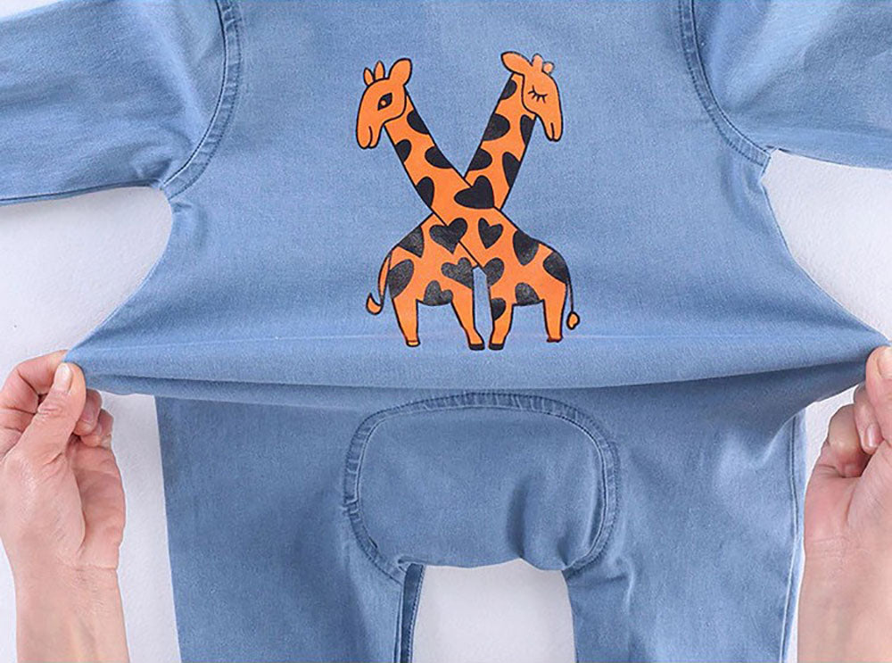 BnBies Stretchy Cotton Jeans Baby Romper Jumpsuit
