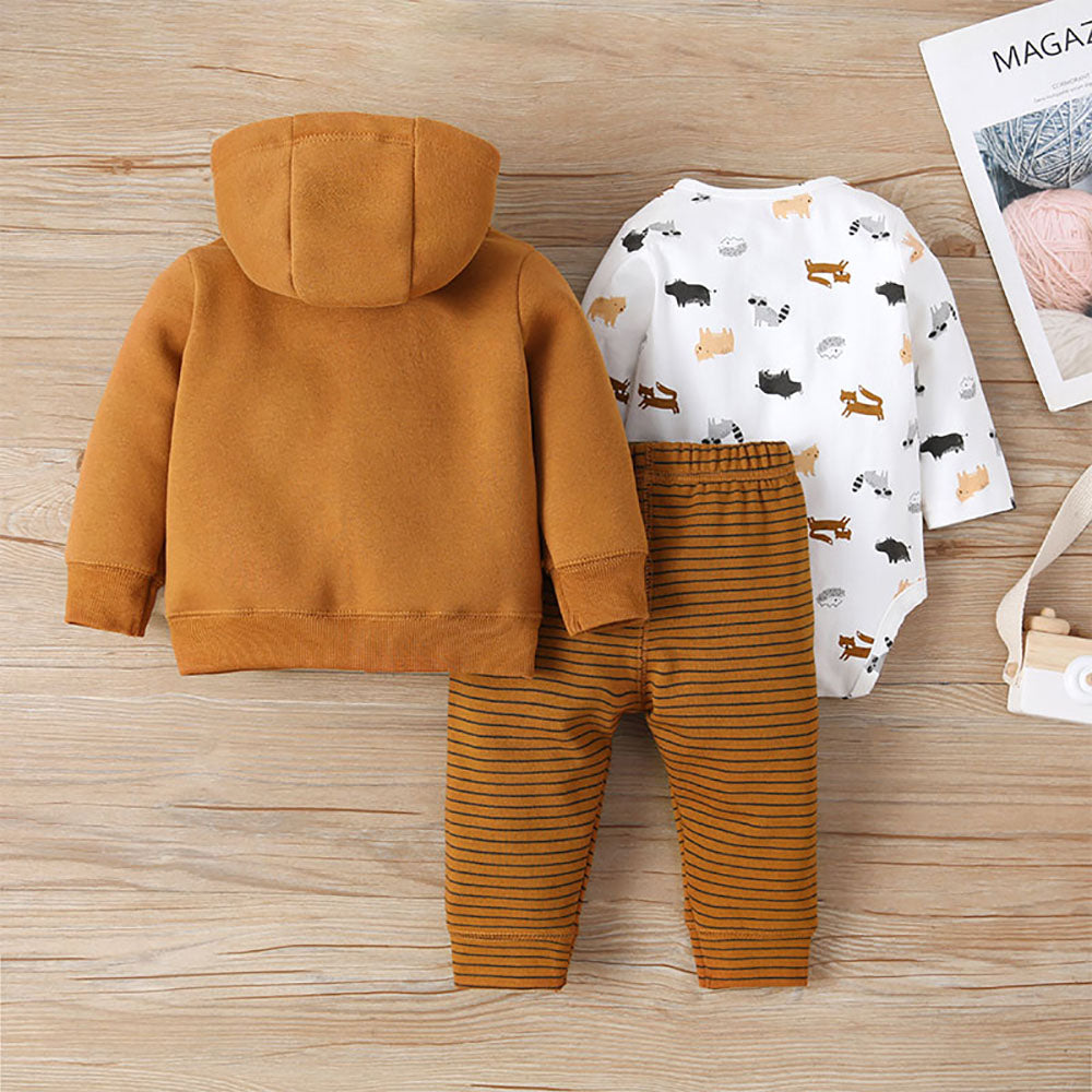 BnBies Long Sleeve Hooded Jacket With Romper and Pant
