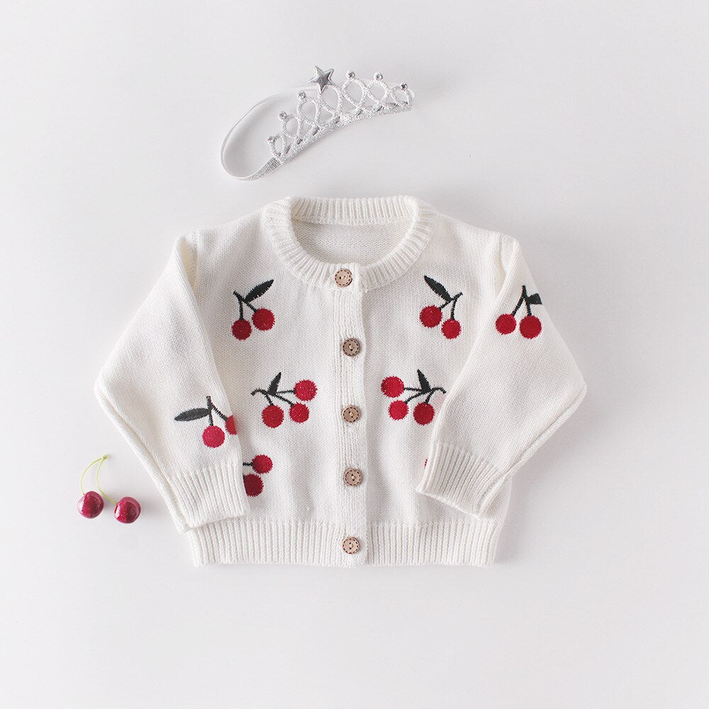 Baby Girl Knitted Cotton Sleeveless Romper and Sweater Coat