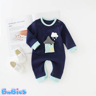 Cute 3D Cartoon House Romper