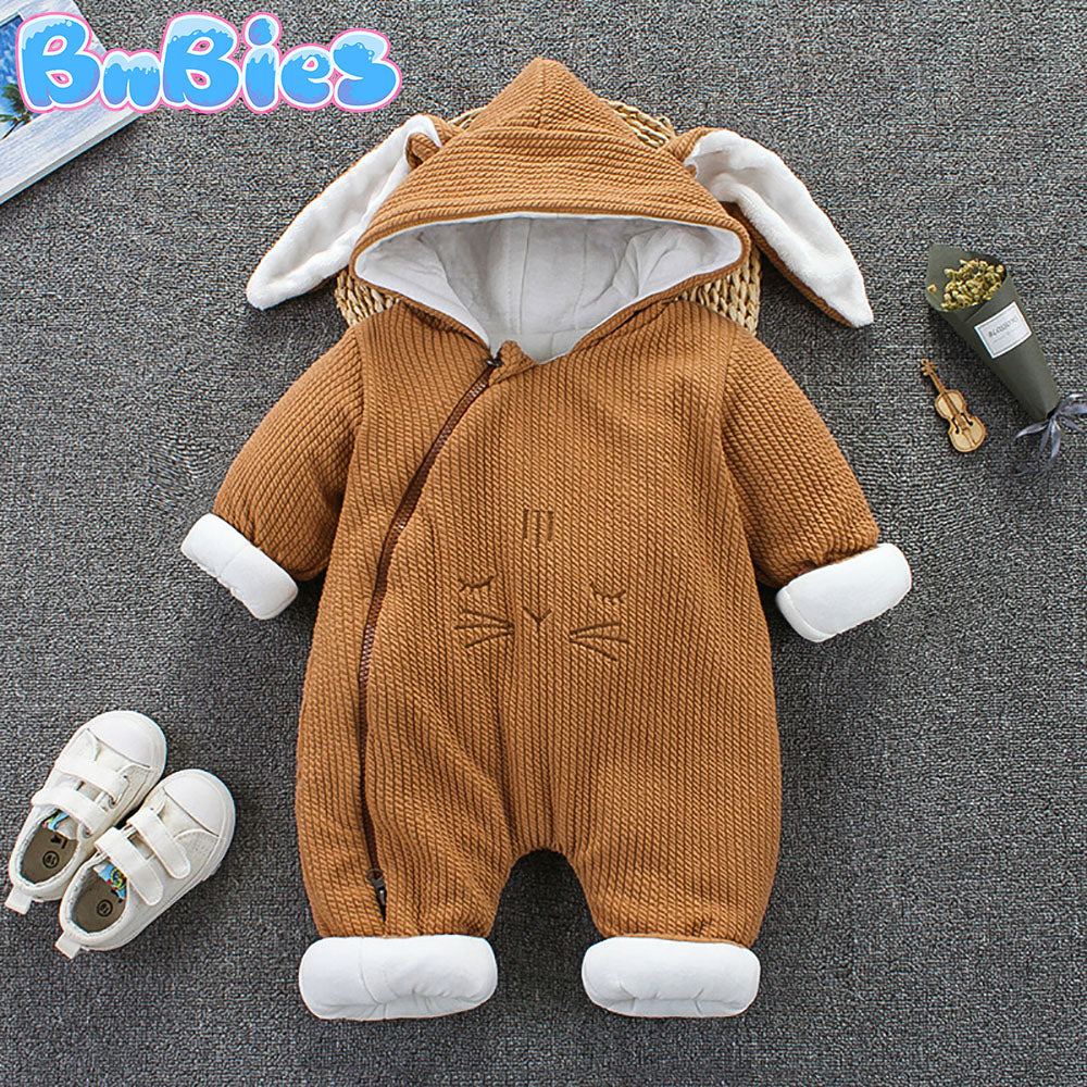 Thick Cotton Animal Hooded Romper