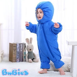 Double Zipper Hooded Thick Jumpsuit