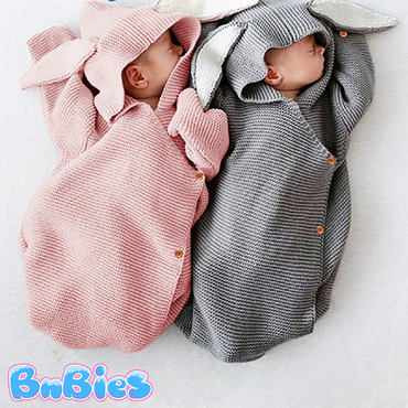 Long Sleeve Knitted Rabbit Sleeping Bag