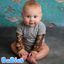 Adorable Tattoo Sleeve Baby Boy Romper
