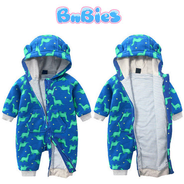 Boys & Girls Hooded Jumpsuit Cotton Romper