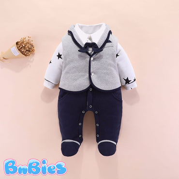 Baby Boy Cotton Suit Romper Jumpsuit