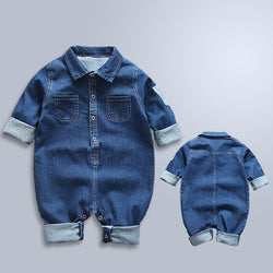 Stretchy Cotton Jeans Baby Romper Jumpsuit