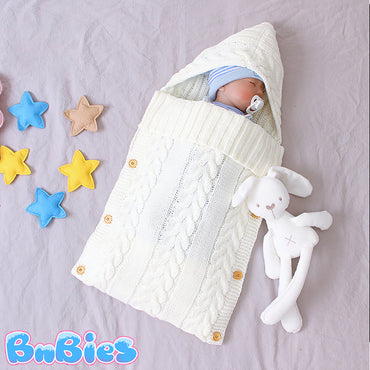 Knitted Baby Sleeping Bag
