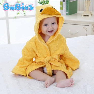 Duck Hooded Cotton Bathrobe - Bnbies