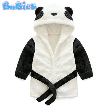 Cartoon Panda Hooded Cotton Bathrobe - Bnbies