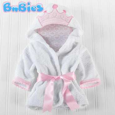 Princess Hooded Cotton Bathrobe - Bnbies