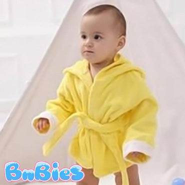 Cartoon Duck Hooded Cotton Bathrobe - Bnbies
