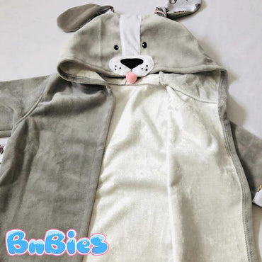 Bamboo Puppy Hooded Cotton Bathrobe - Bnbies